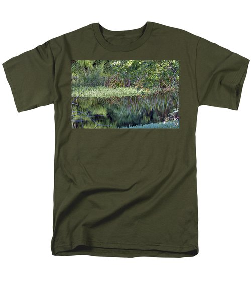 Men's T-Shirt  (Regular Fit) featuring the photograph Reed Reflections by Kate Brown
