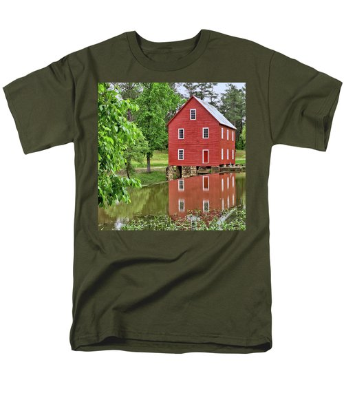 Reflections Of A Retired Grist Mill - Square Men's T-Shirt  (Regular Fit) by Gordon Elwell