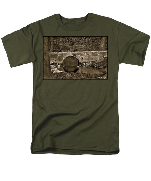 Men's T-Shirt  (Regular Fit) featuring the photograph Reflective Bridge by Tara Potts