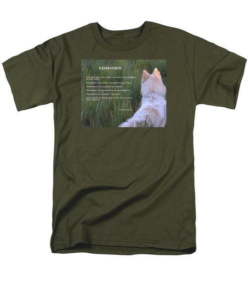 Remember Men's T-Shirt  (Regular Fit) by Fiona Kennard