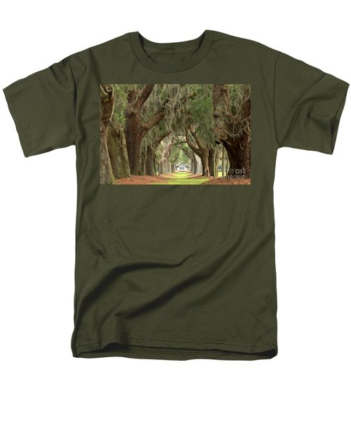 Retreat Avenue Of The Oaks Men's T-Shirt  (Regular Fit) by Adam Jewell