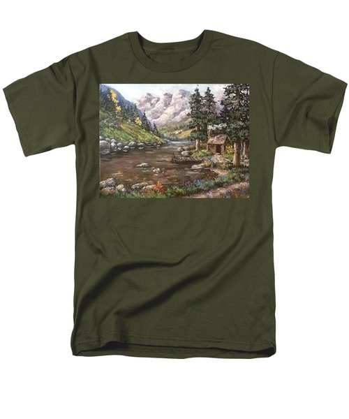Men's T-Shirt  (Regular Fit) featuring the painting Retreat by Megan Walsh