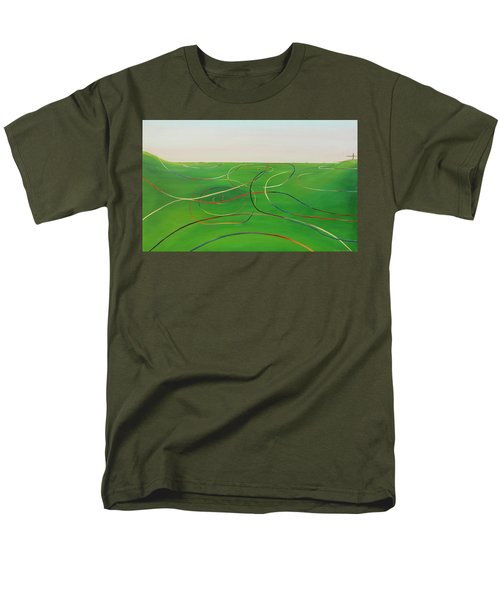 Men's T-Shirt  (Regular Fit) featuring the painting Ripples Of Life 1 by Tim Mullaney