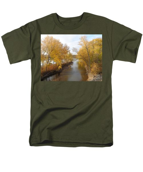 River And Gold Men's T-Shirt  (Regular Fit) by Christina Verdgeline