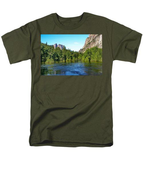 Yosemite National Park Men's T-Shirt  (Regular Fit) by Menachem Ganon
