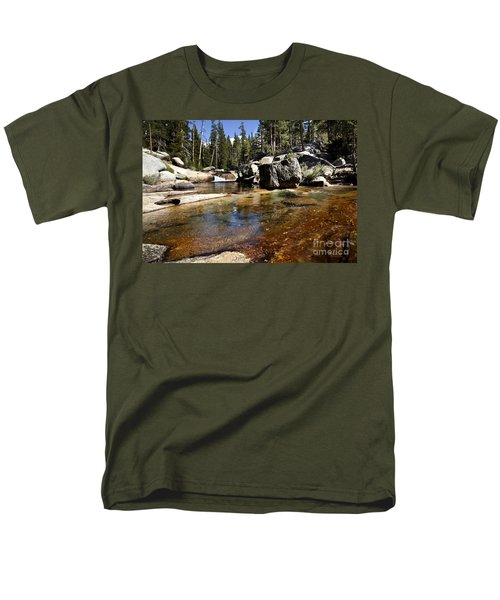 River Flows Men's T-Shirt  (Regular Fit) by David Millenheft