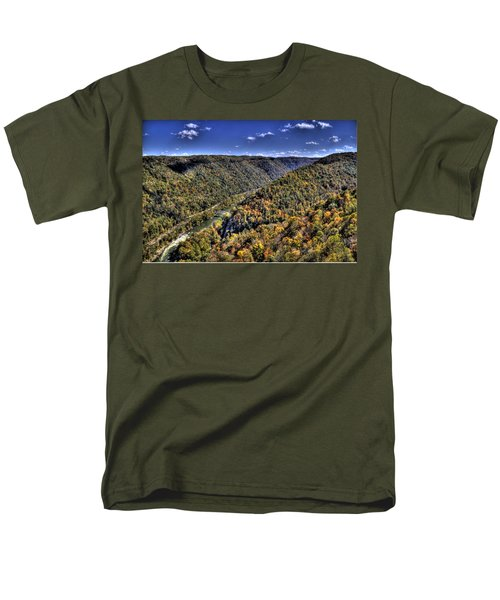 Men's T-Shirt  (Regular Fit) featuring the photograph River Running Through A Valley by Jonny D