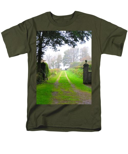 Men's T-Shirt  (Regular Fit) featuring the photograph Road To Nowhere by Suzanne Oesterling