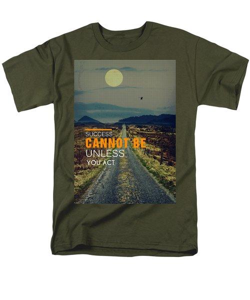 Road To Success Men's T-Shirt  (Regular Fit)