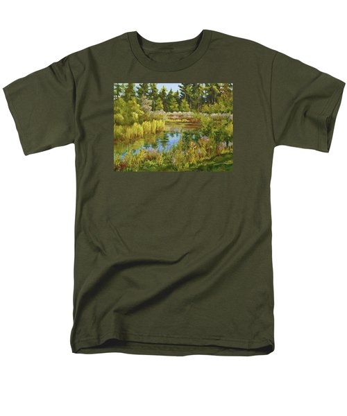Rock Valley Pond Rockford Il Men's T-Shirt  (Regular Fit) by Alexandra Maria Ethlyn Cheshire