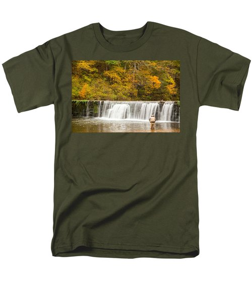 Men's T-Shirt  (Regular Fit) featuring the photograph Rockbridge Fisherman by Steven Bateson