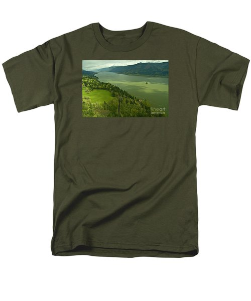 Men's T-Shirt  (Regular Fit) featuring the photograph Roll On Columbia Roll On by Nick  Boren
