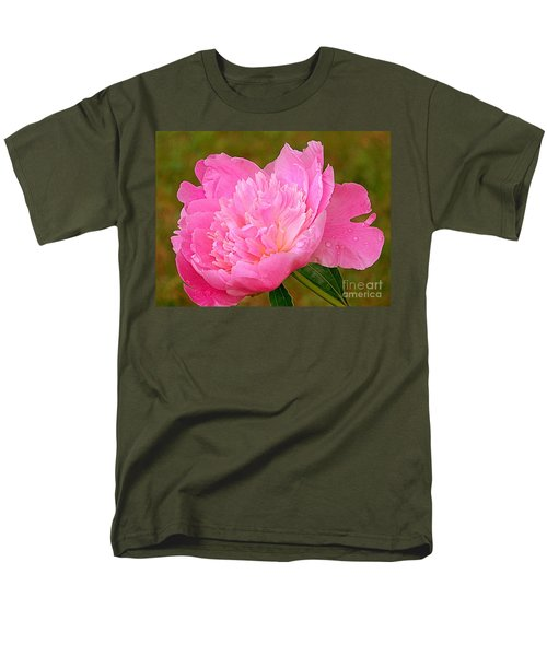 Pink Peony Men's T-Shirt  (Regular Fit) by Eunice Miller