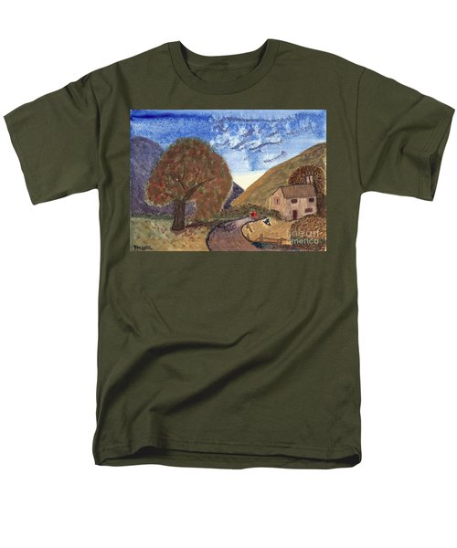 Men's T-Shirt  (Regular Fit) featuring the painting Romantic Walk by Tracey Williams