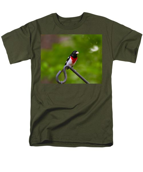 Rose Breasted Grosbeak Men's T-Shirt  (Regular Fit) by Robert L Jackson