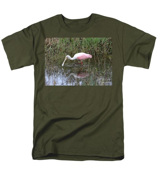 Roseate Spoonbill Reflection Men's T-Shirt  (Regular Fit) by Carol Groenen
