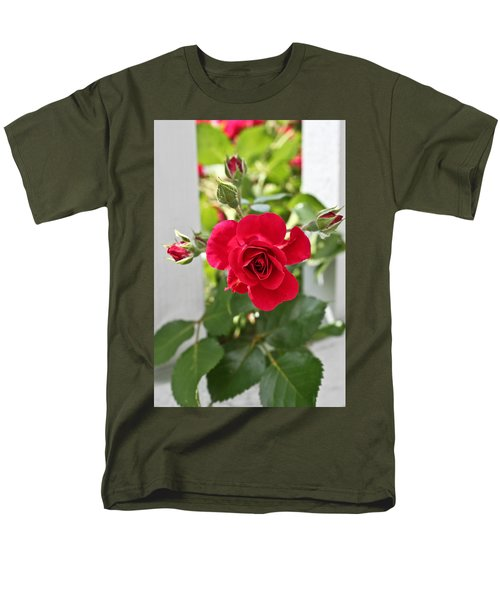 Men's T-Shirt  (Regular Fit) featuring the photograph Roses Are Red by Joann Copeland-Paul