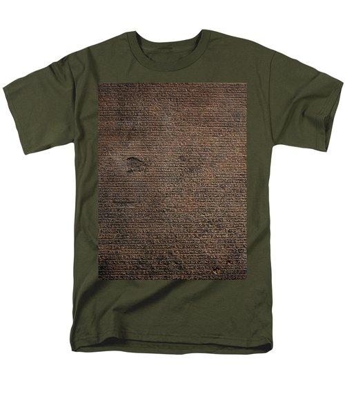 Rosetta Stone Texture Men's T-Shirt  (Regular Fit) by Gina Dsgn