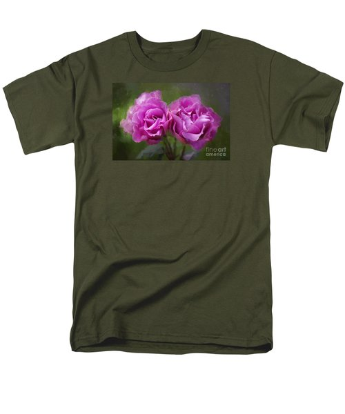 Men's T-Shirt  (Regular Fit) featuring the photograph Rosey Twins by Adria Trail