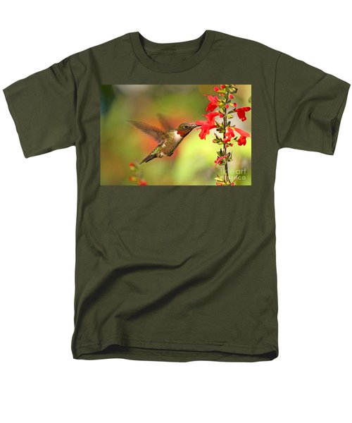 Ruby Throat Hummingbird Photo Men's T-Shirt  (Regular Fit) by Luana K Perez