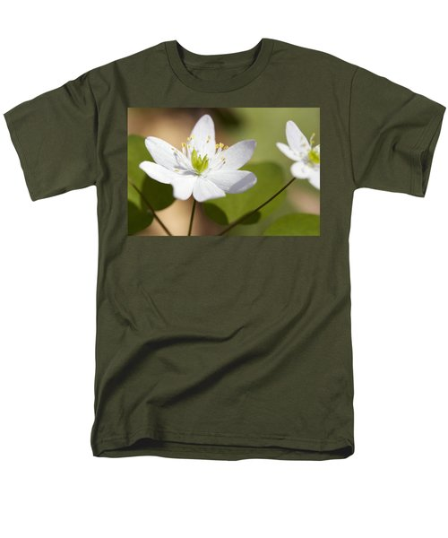 Rue Anemone Men's T-Shirt  (Regular Fit) by Melinda Fawver