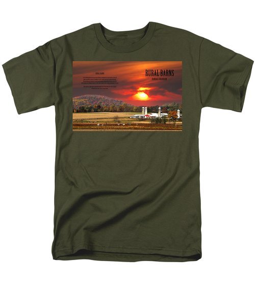 Men's T-Shirt  (Regular Fit) featuring the photograph Rural Barns  My Book Cover by Randall Branham