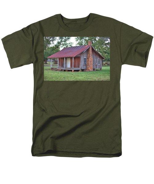 Men's T-Shirt  (Regular Fit) featuring the photograph Rural Georgia Cabin by Gordon Elwell