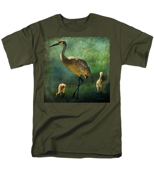 Sandhill And Chicks Men's T-Shirt  (Regular Fit) by Barbara Chichester