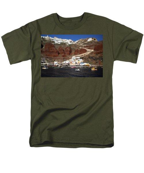 Santorini  Island  View To Oia Greece Men's T-Shirt  (Regular Fit) by Colette V Hera  Guggenheim