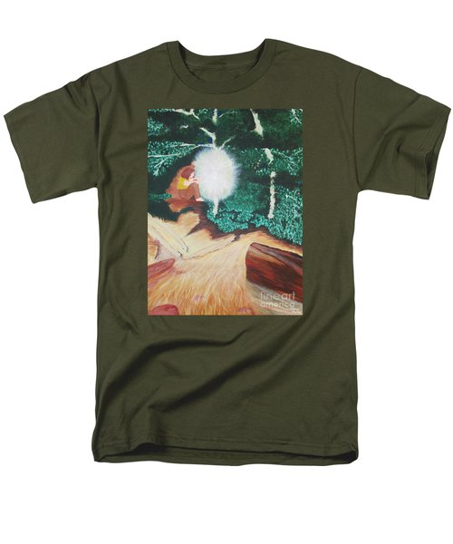 Men's T-Shirt  (Regular Fit) featuring the painting Saying Hello by Cheryl Bailey