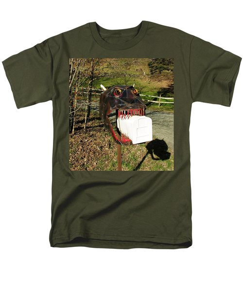 Men's T-Shirt  (Regular Fit) featuring the photograph Scary Mailbox 2 by Sherman Perry
