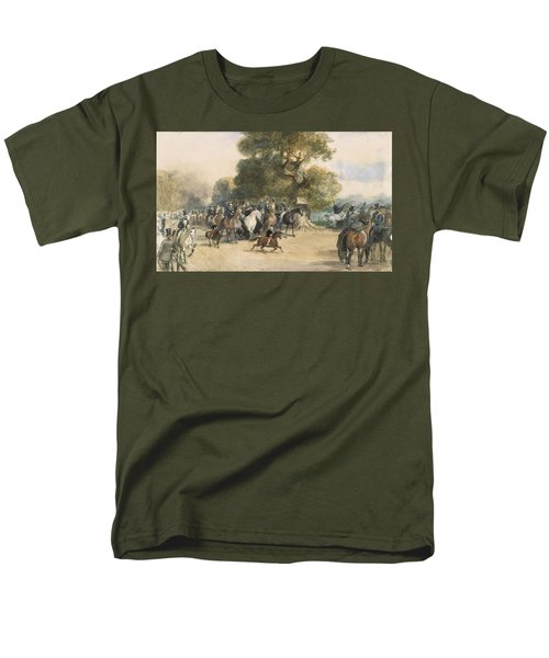 Scene In Hyde Park Men's T-Shirt  (Regular Fit) by Eugene-Louis Lami