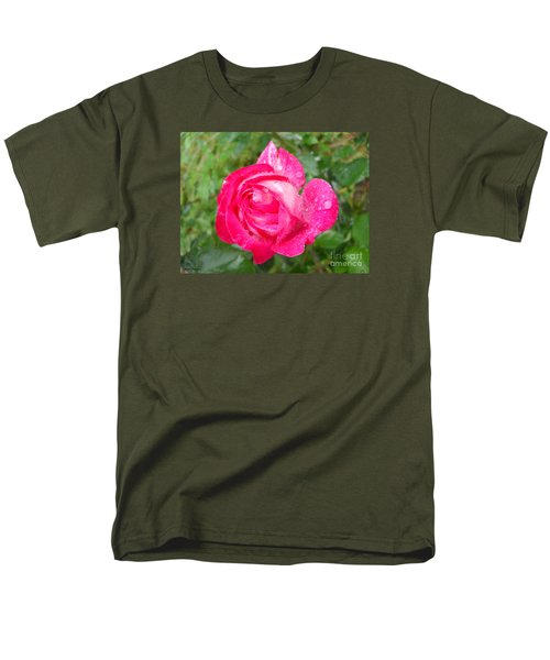 Men's T-Shirt  (Regular Fit) featuring the photograph Scented Rose by Ramona Matei