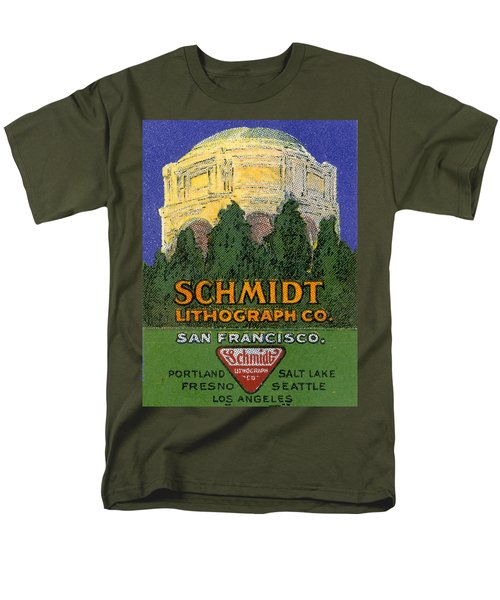 Schmidt Lithograph  Men's T-Shirt  (Regular Fit) by Cathy Anderson