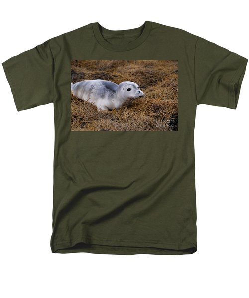 Seal Pup Men's T-Shirt  (Regular Fit) by DejaVu Designs