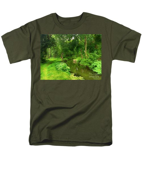 Serene Reflections Men's T-Shirt  (Regular Fit) by Becky Lupe