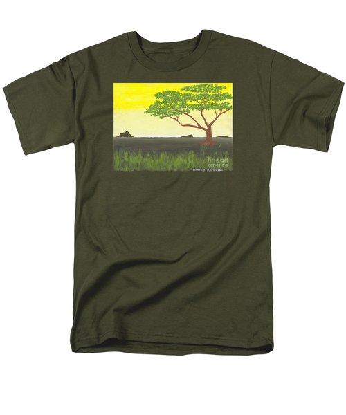 Men's T-Shirt  (Regular Fit) featuring the painting Serengeti by David Jackson