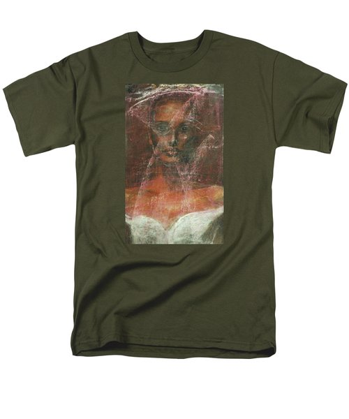 Men's T-Shirt  (Regular Fit) featuring the painting Serious Bride Mirage  by Jarmo Korhonen aka Jarko