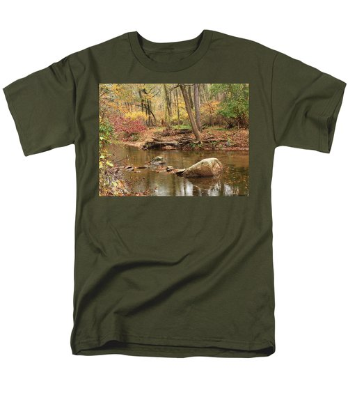 Men's T-Shirt  (Regular Fit) featuring the photograph Shades Of Fall In Ridley Park by Patrice Zinck