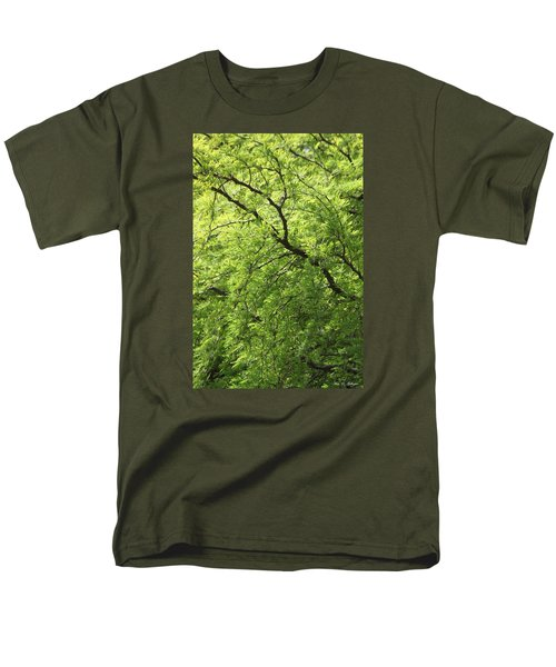 Men's T-Shirt  (Regular Fit) featuring the photograph Shades Of Green by Amy Gallagher