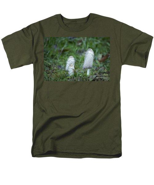 Shaggy Cap Mushroom No. 3 Men's T-Shirt  (Regular Fit) by Belinda Greb