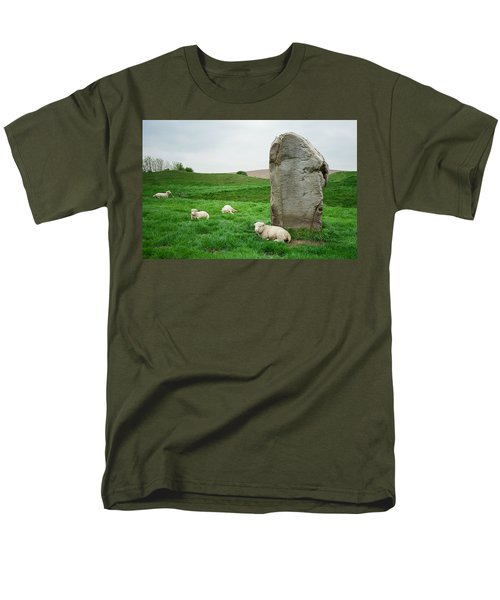 Sheep At Avebury Stones - Original Men's T-Shirt  (Regular Fit) by Marilyn Wilson