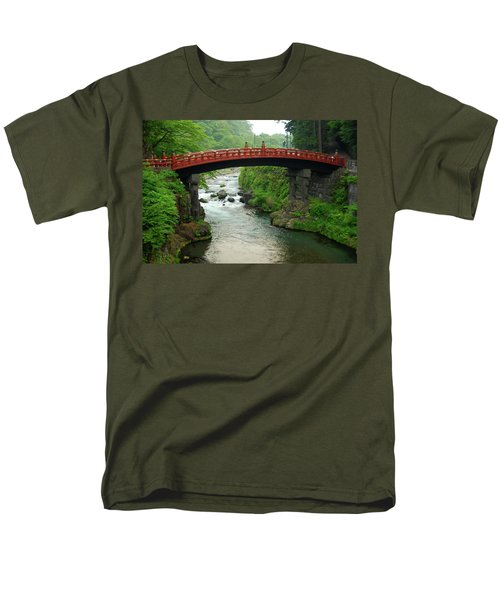Men's T-Shirt  (Regular Fit) featuring the photograph Shinkyo In Nikko by Jonah  Anderson