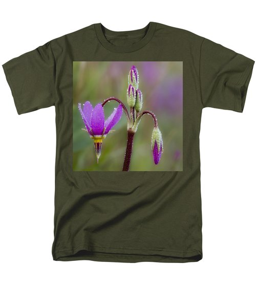 Men's T-Shirt  (Regular Fit) featuring the photograph Shooting Stars Square by Sonya Lang