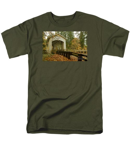 Men's T-Shirt  (Regular Fit) featuring the photograph Short Covered Bridge by Nick  Boren