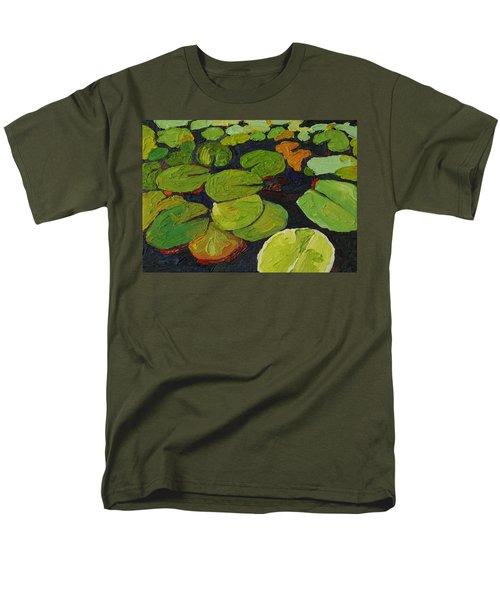 Singleton Lily Pads Men's T-Shirt  (Regular Fit) by Phil Chadwick