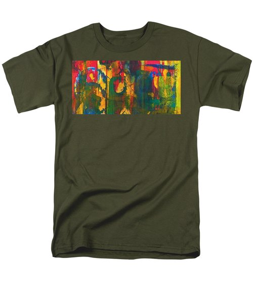Men's T-Shirt  (Regular Fit) featuring the painting Sisters by Anna Ruzsan