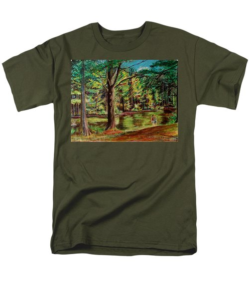 Sisters At Wason Pond Men's T-Shirt  (Regular Fit) by Sean Connolly