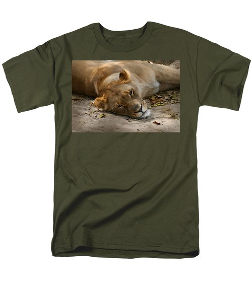 Men's T-Shirt  (Regular Fit) featuring the photograph Sleepy Lioness by Ann Lauwers