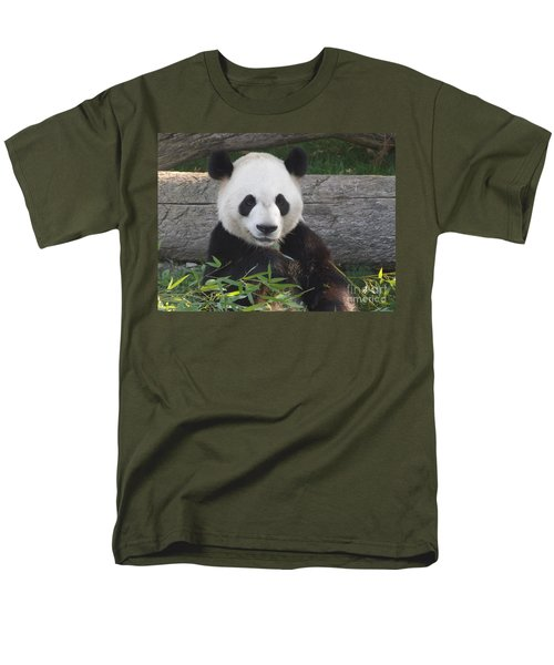 Smiling Giant Panda Men's T-Shirt  (Regular Fit) by Lingfai Leung